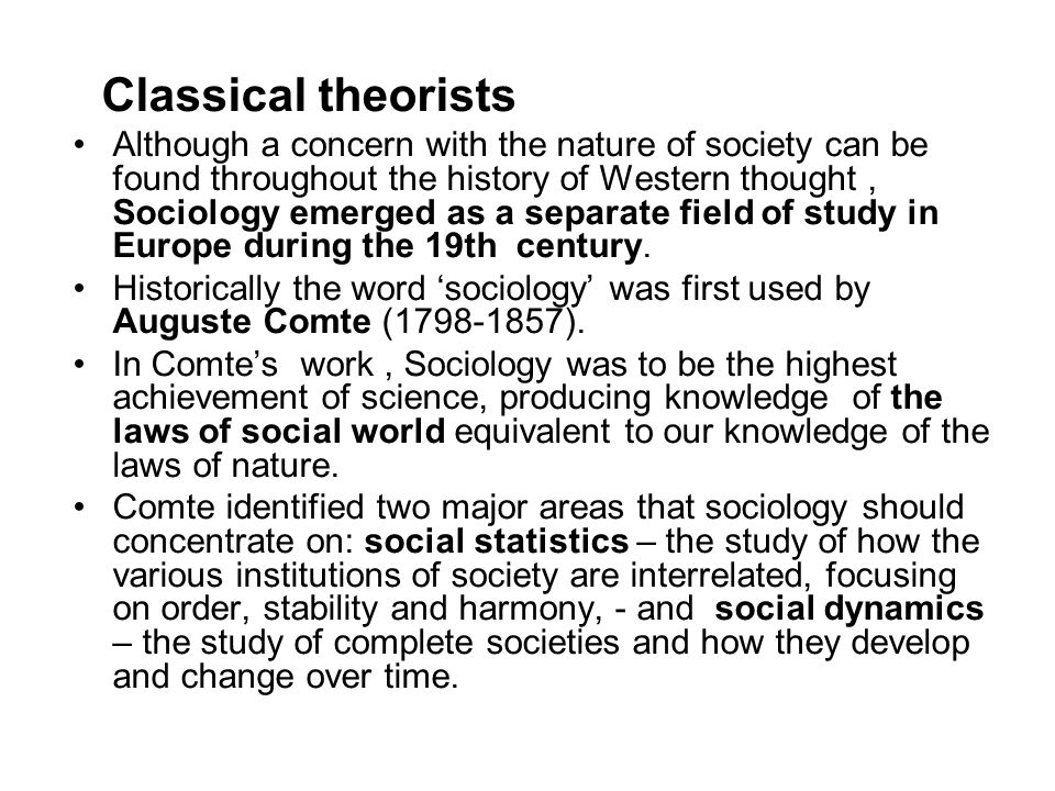 Classical theorists