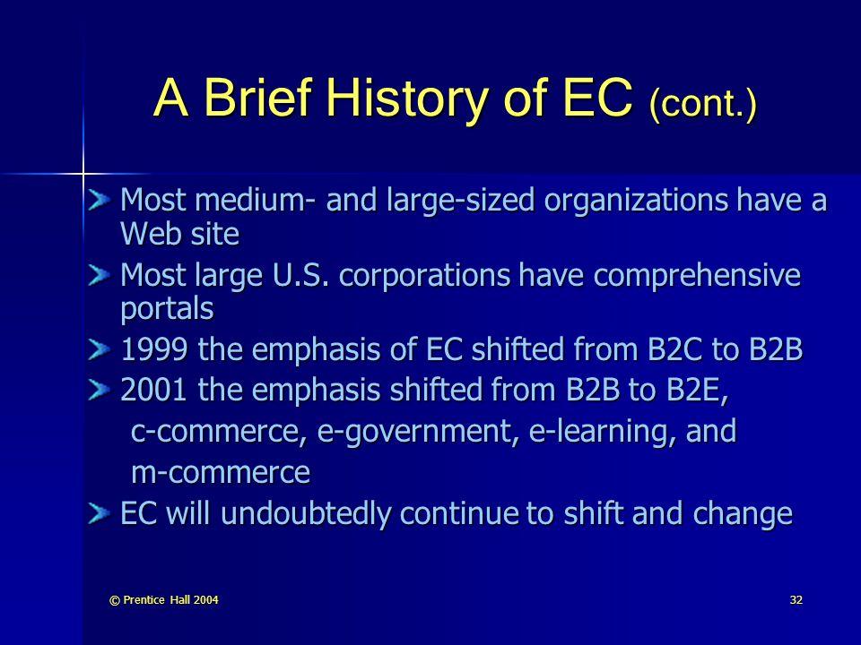 A Brief History of EC (cont.)