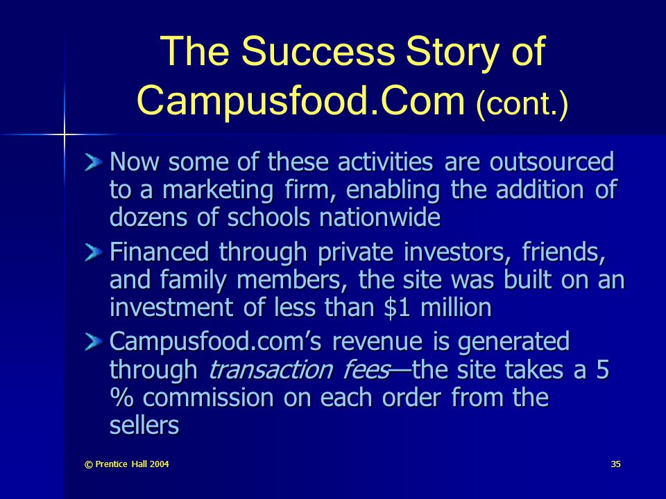 The Success Story of Campusfood.Com (cont.)