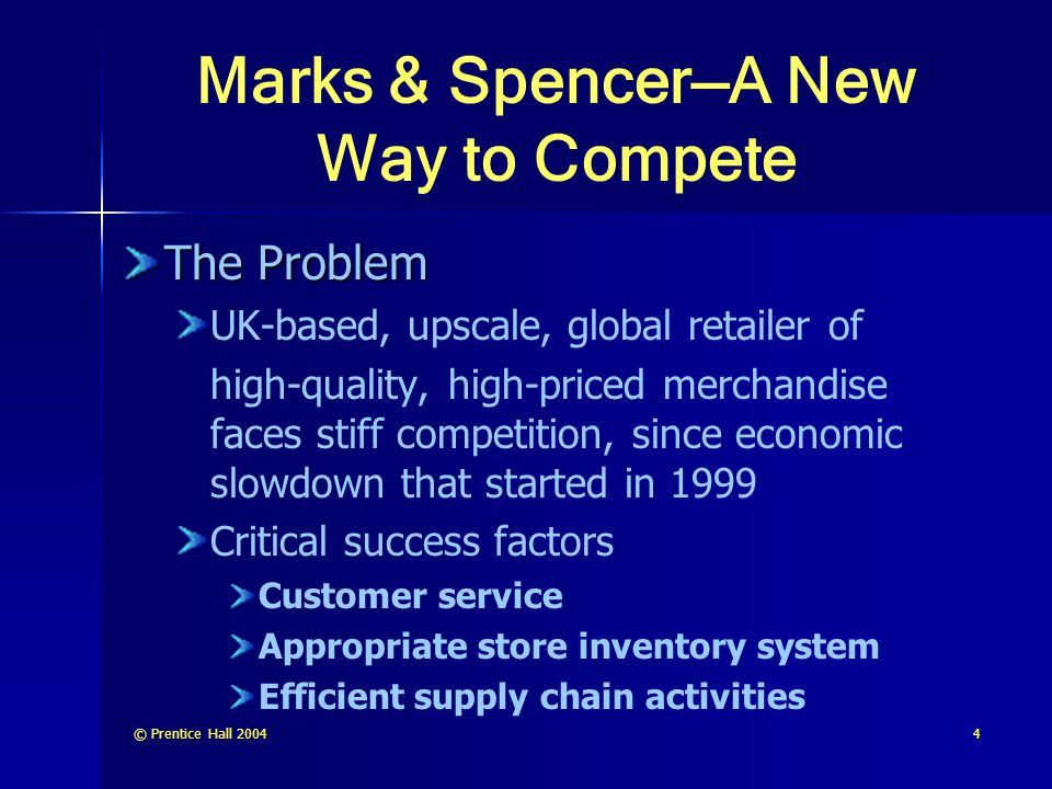 Marks & Spencer—A New Way to Compete
