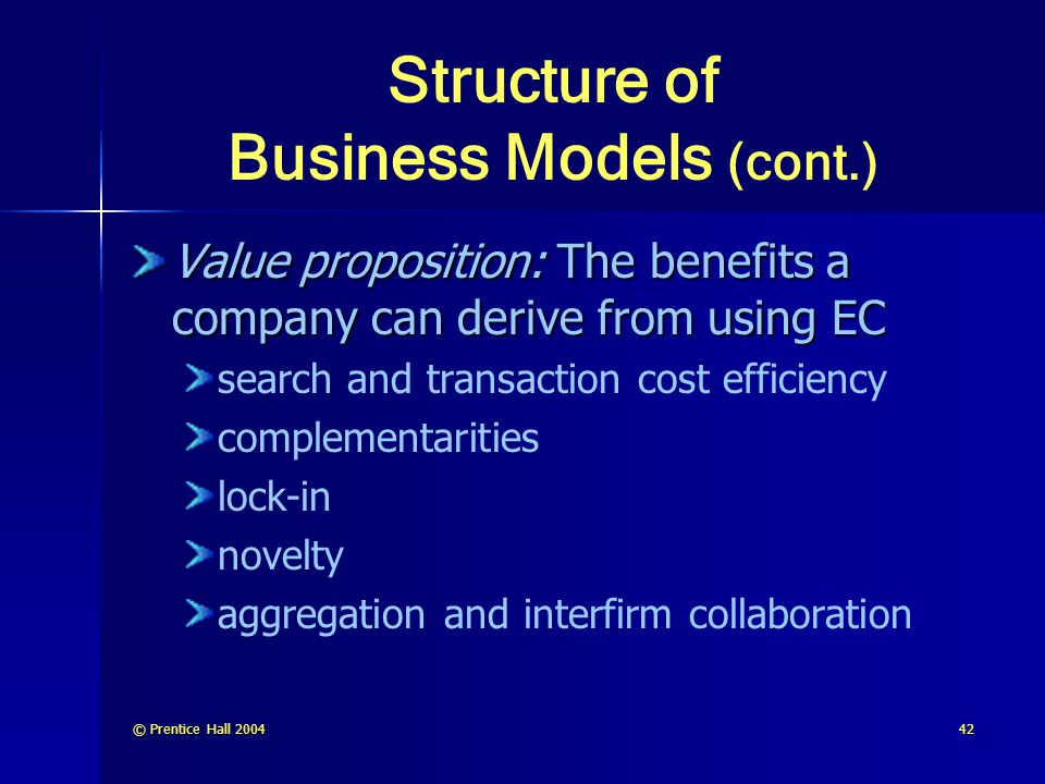 Structure of Business Models (cont.)