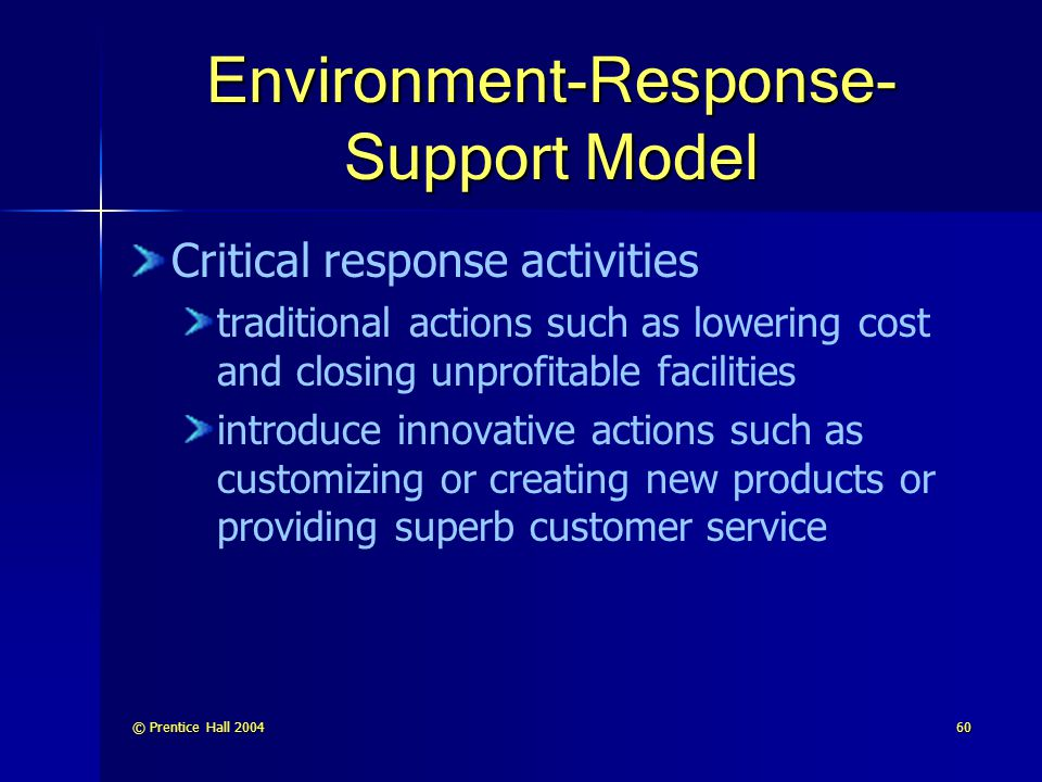 Environment-Response-Support Model