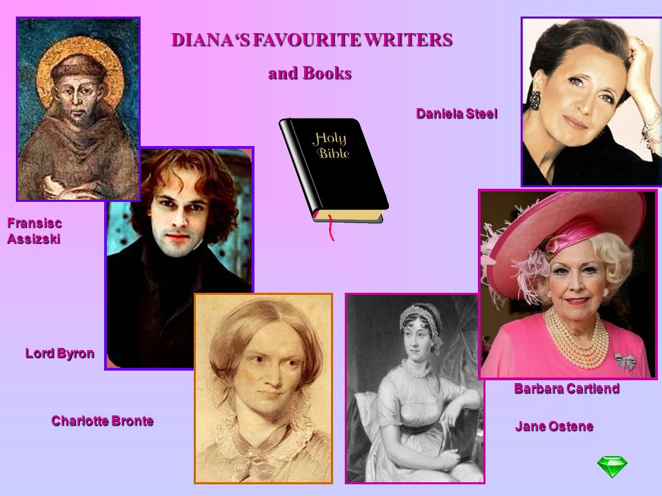 DIANA'S FAVOURITE WRITERS and Books
