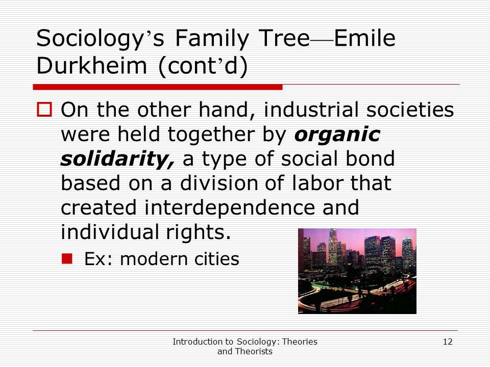 Sociology's Family Tree—Emile Durkheim (cont'd)