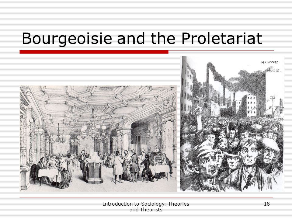 Bourgeoisie and the Proletariat