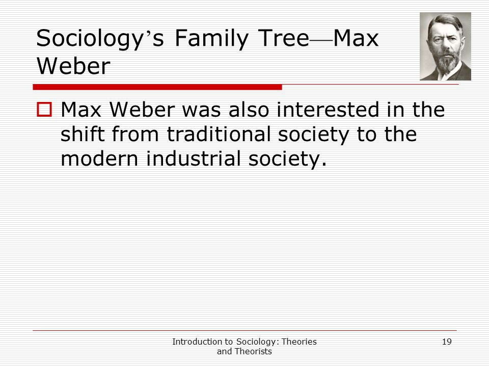 Sociology's Family Tree—Max Weber
