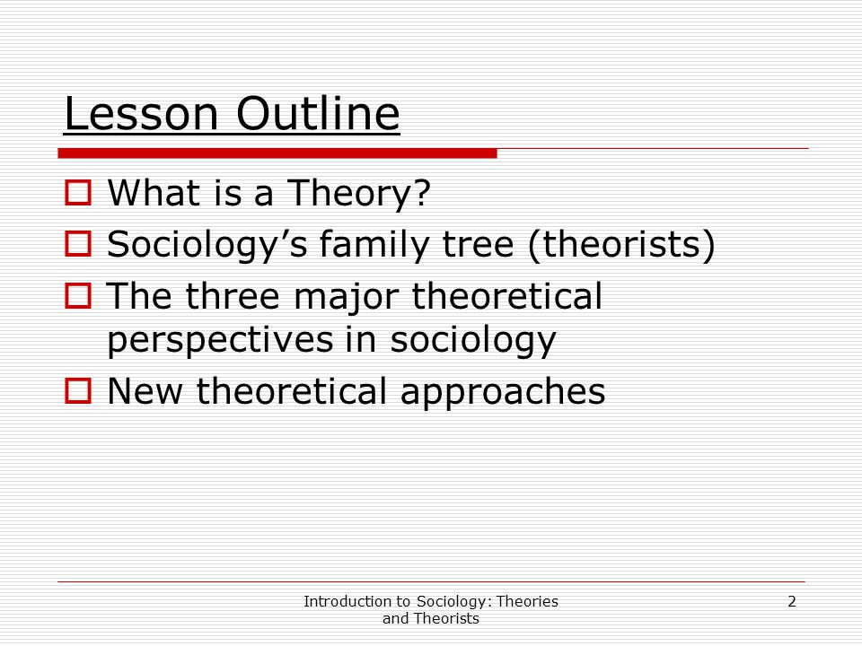 the three major theoretical perspectives in sociology Sociologists employ three major theoretical perspectives in sociology today they are the structural-functionalist perspective, the conflict perspective, and the symbolic interactionism the structural-functionalist perspective is done at a macro level and its focus is on the relationships between the parts of society.