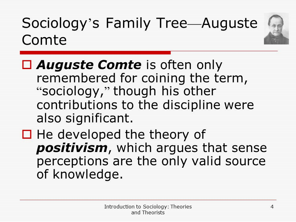 Sociology's Family Tree—Auguste Comte