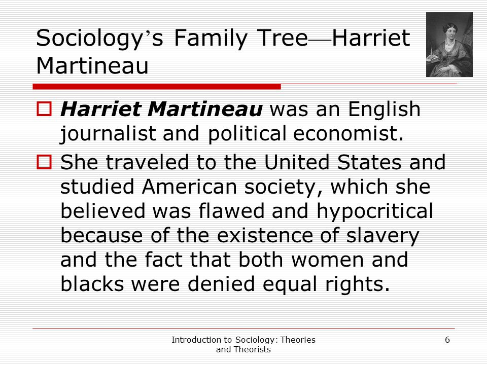Sociology's Family Tree—Harriet Martineau