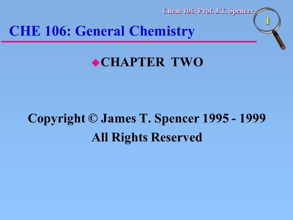 CHE 106: General Chemistry
