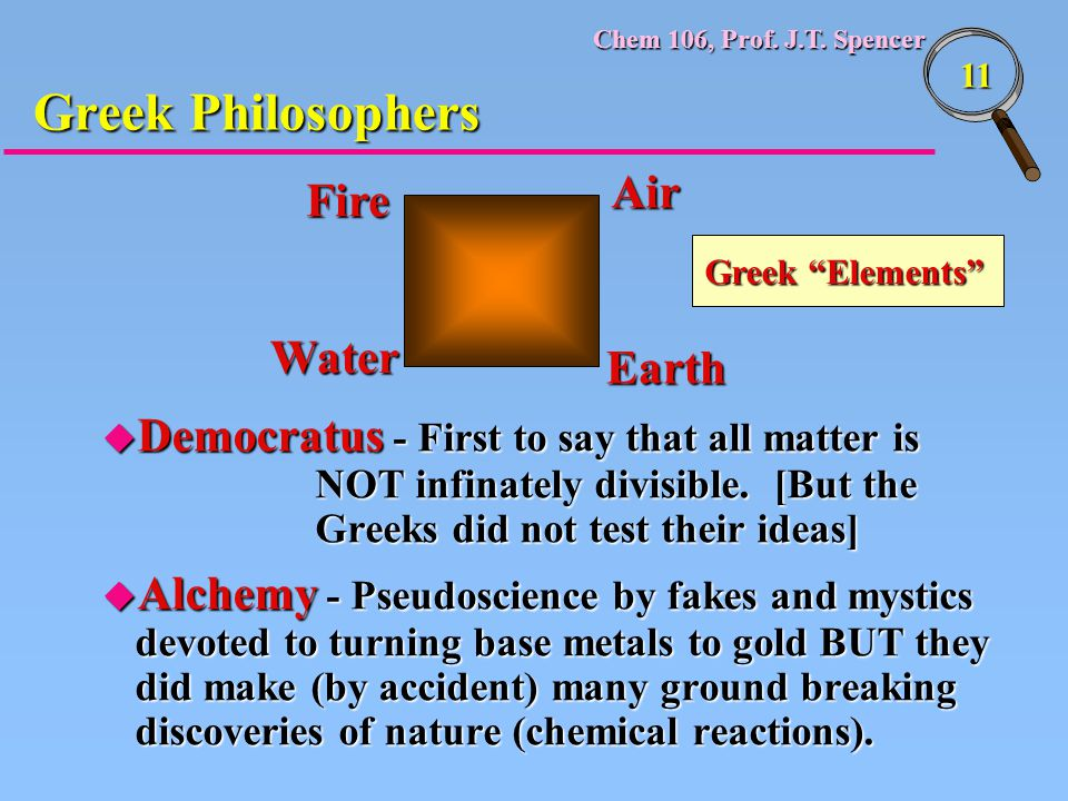 Greek Philosophers Air Fire Water Earth