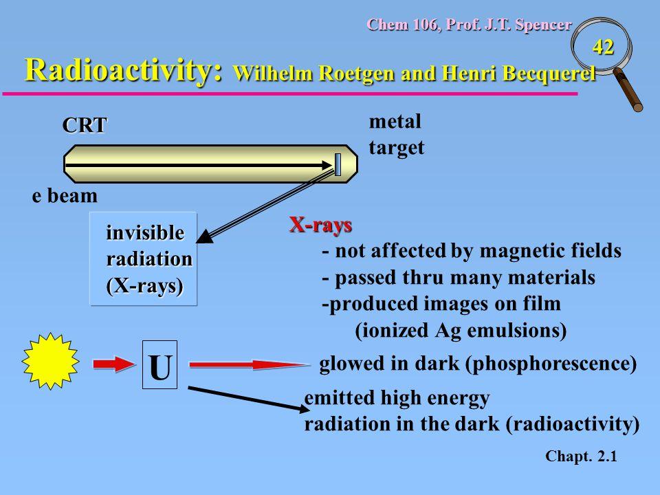 Radioactivity: Wilhelm Roetgen and Henri Becquerel