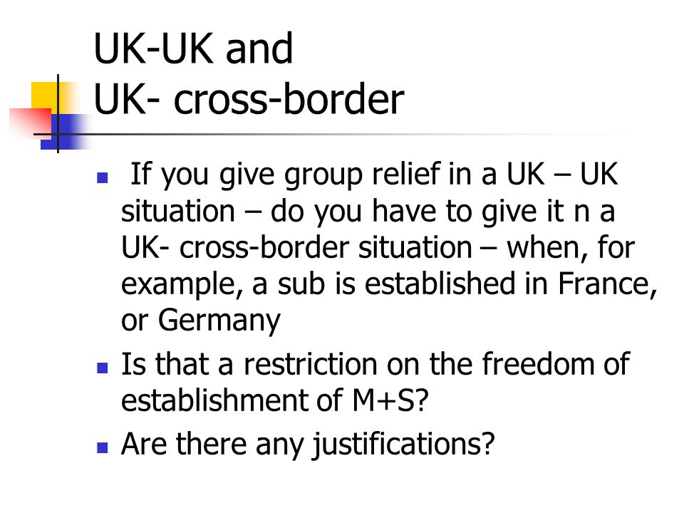UK-UK and UK- cross-border