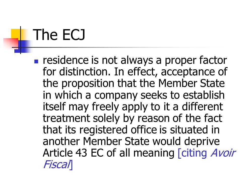 The ECJ