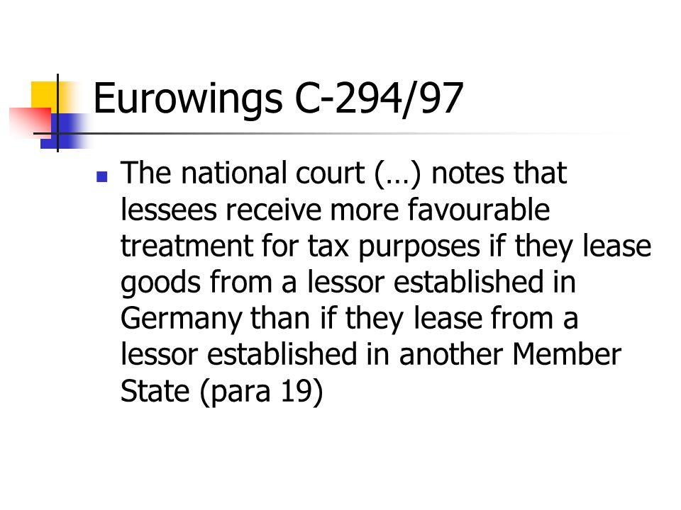 Eurowings C-294/97