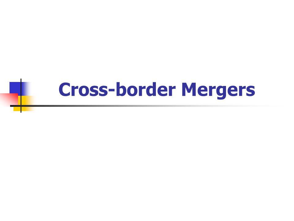 Cross-border Mergers