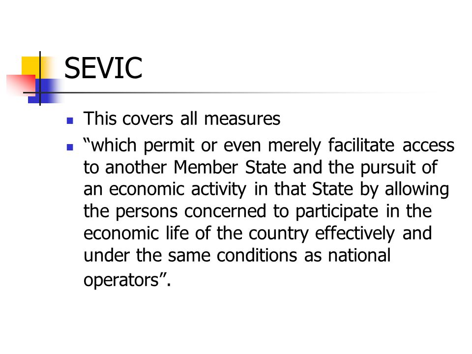 SEVIC This covers all measures