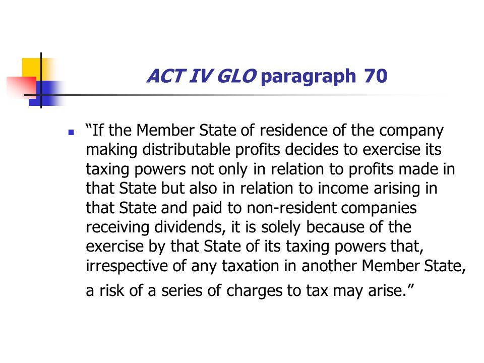 ACT IV GLO paragraph 70