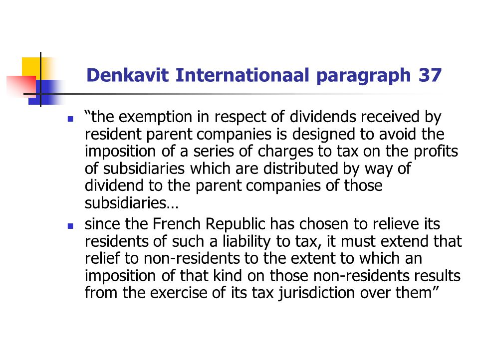 Denkavit Internationaal paragraph 37