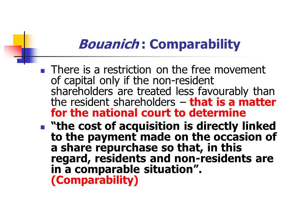 Bouanich : Comparability