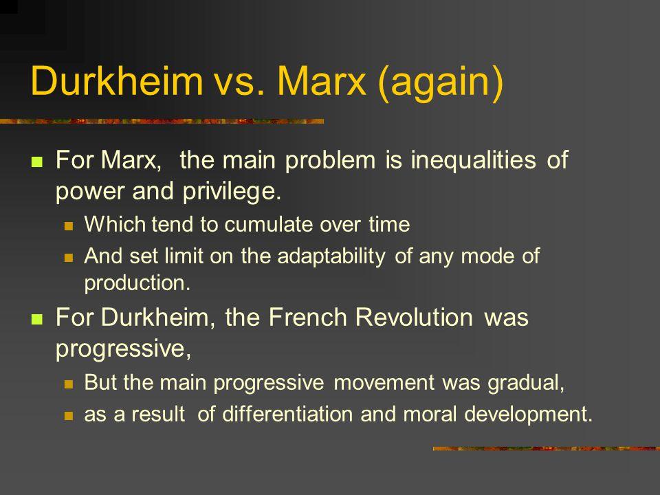 Durkheim vs. Marx (again)