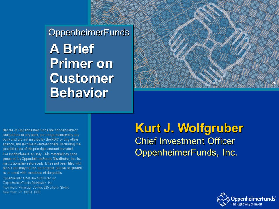 A Brief Primer on Customer Behavior