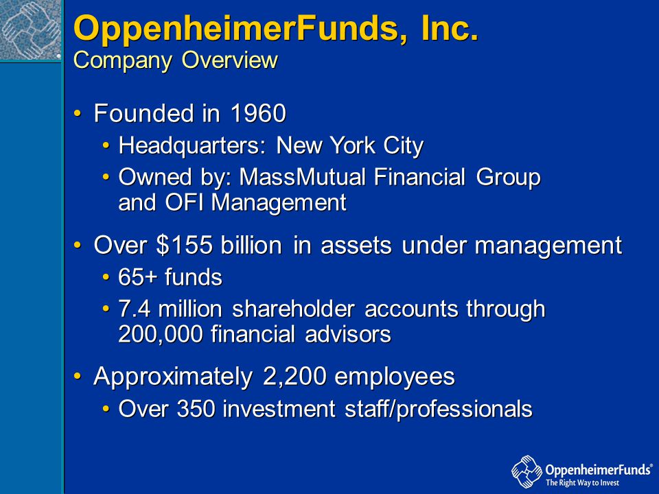 OppenheimerFunds, Inc. Founded in 1960