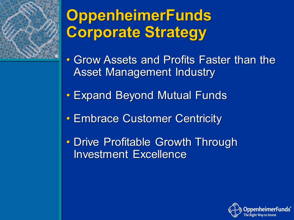 OppenheimerFunds Corporate Strategy