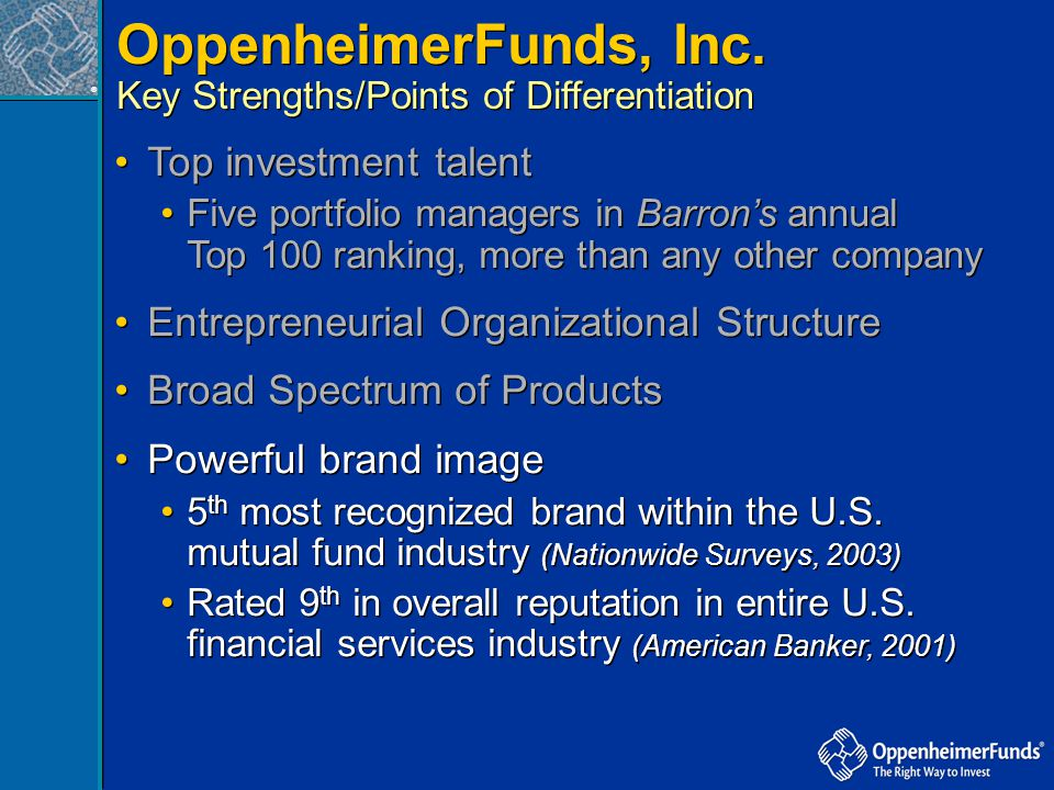 OppenheimerFunds, Inc. Top investment talent