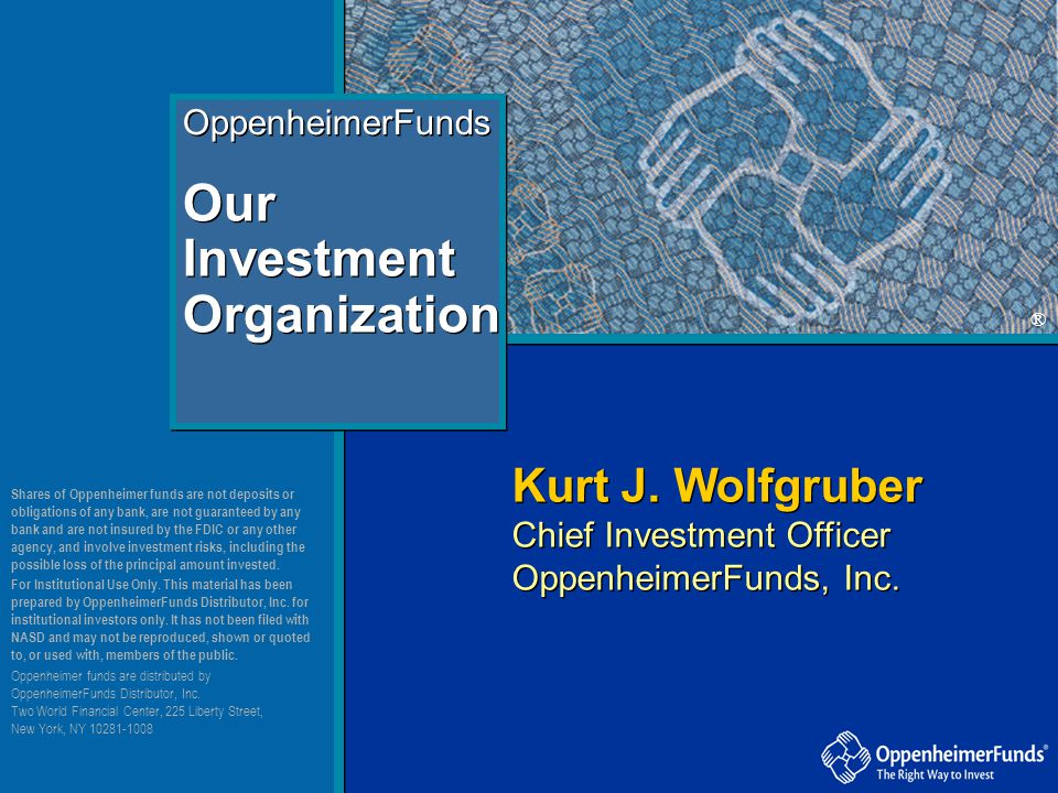 Our Investment Organization