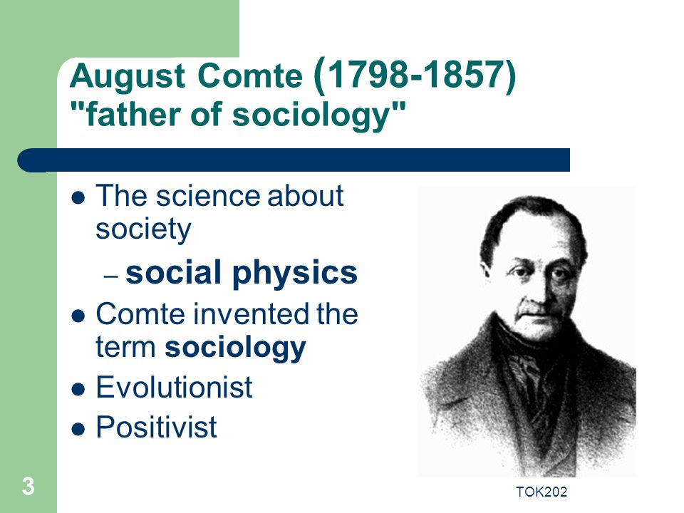August Comte (1798-1857) father of sociology