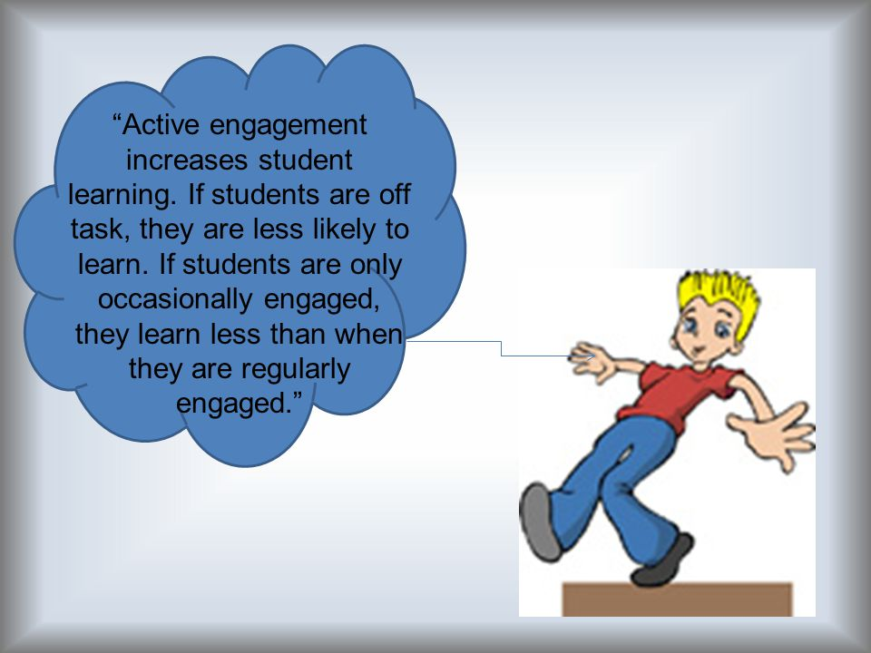 Active engagement increases student learning