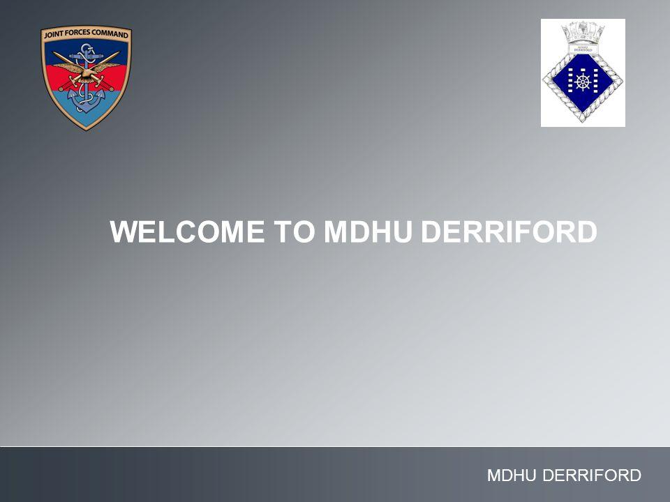 WELCOME TO MDHU DERRIFORD