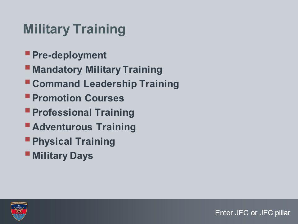 Military Training Pre-deployment Mandatory Military Training