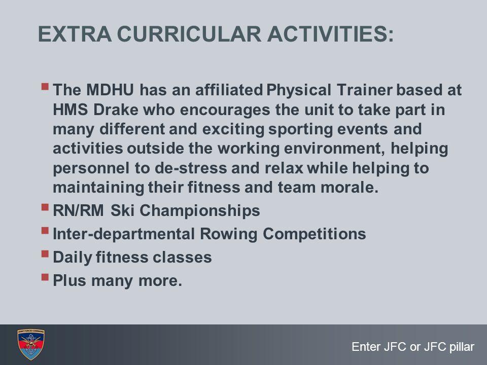 EXTRA CURRICULAR ACTIVITIES: