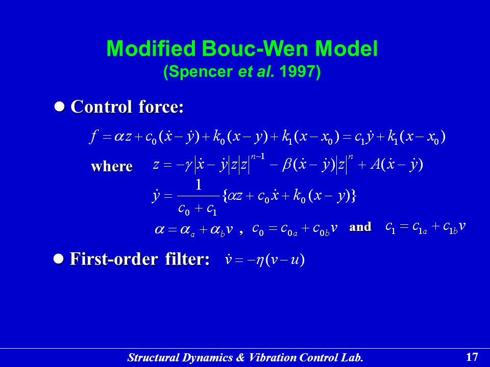 Modified Bouc-Wen Model (Spencer et al. 1997)