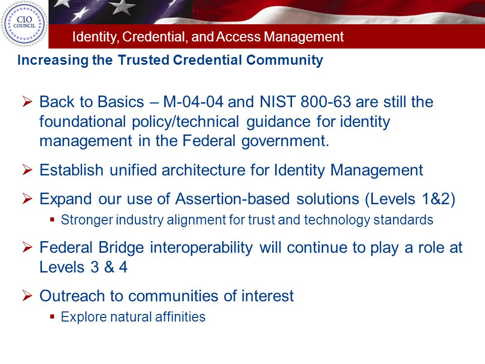 Increasing the Trusted Credential Community