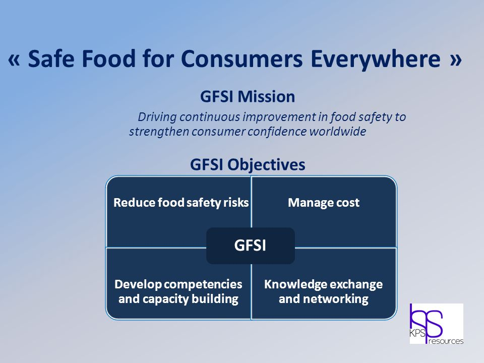« Safe Food for Consumers Everywhere »