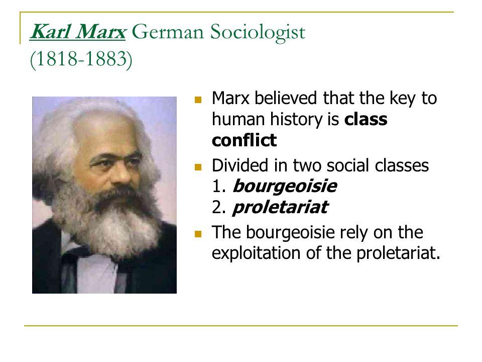 Karl Marx German Sociologist (1818-1883)