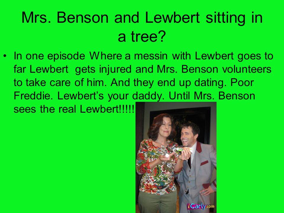 Mrs. Benson and Lewbert sitting in a tree