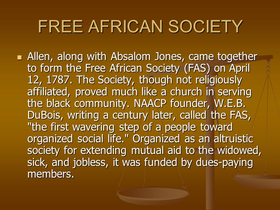FREE AFRICAN SOCIETY