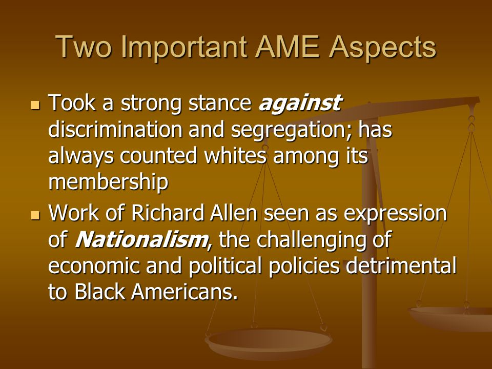 Two Important AME Aspects