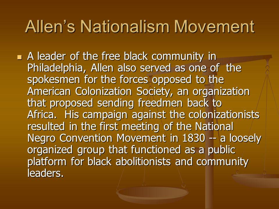 Allen's Nationalism Movement