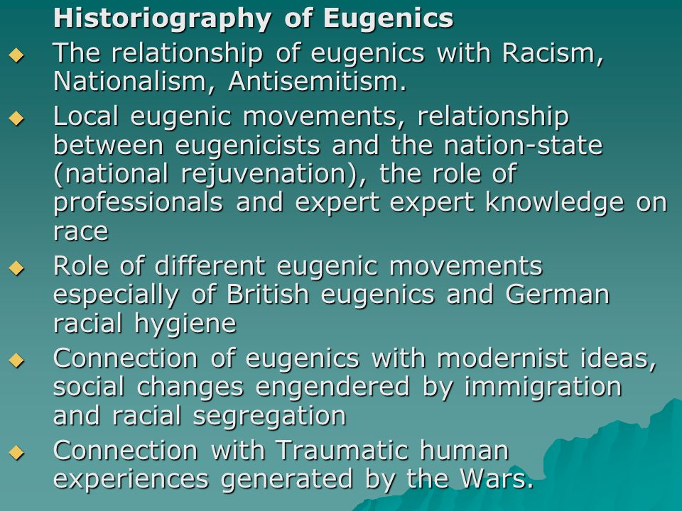 Historiography of Eugenics