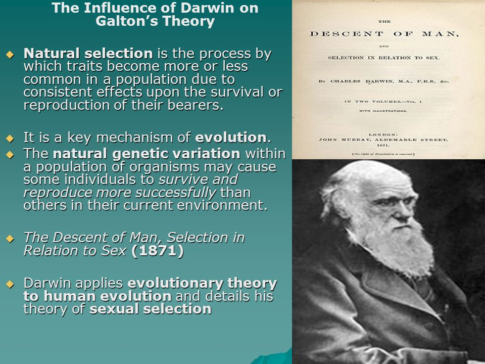 The Influence of Darwin on Galton's Theory