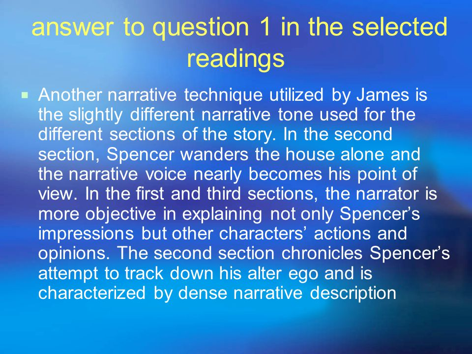 answer to question 1 in the selected readings