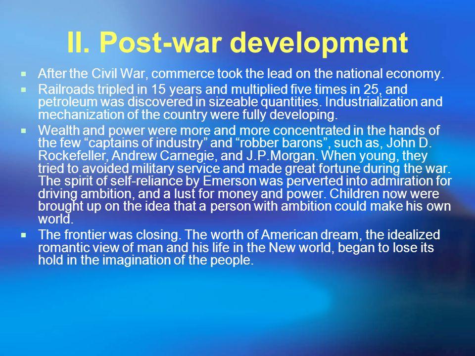 II. Post-war development