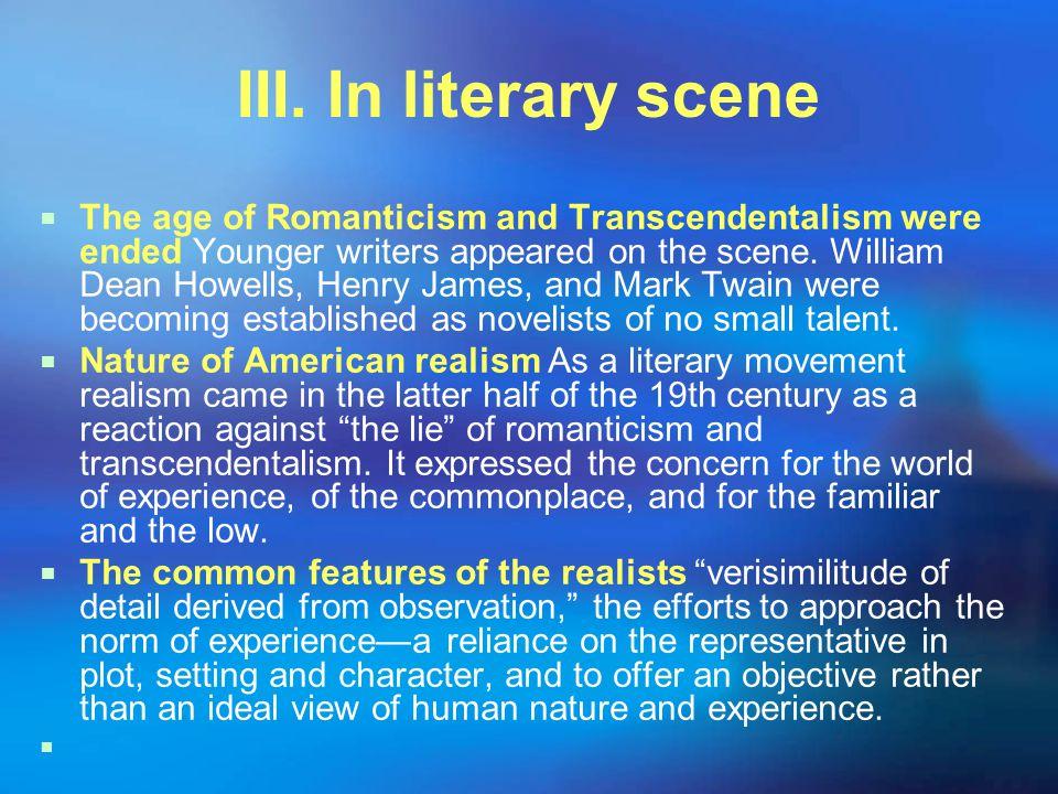 III. In literary scene