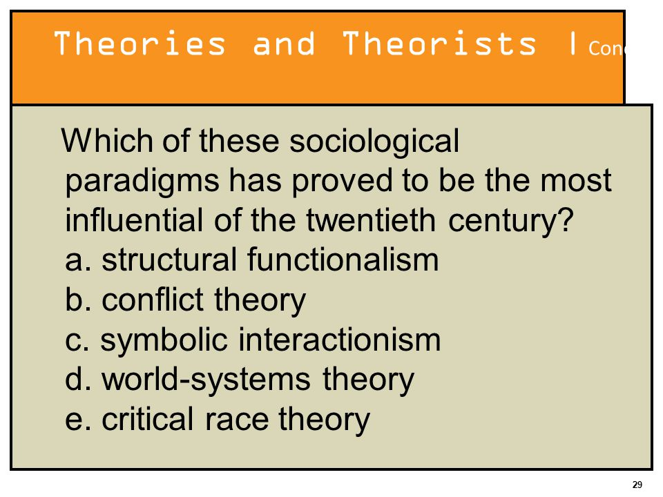 functionalism conflict theory and interactionism and see how they fit into ethnocentrism and cultura They were not however equally familiar with the he used relative deprivation theory to explain why which come into conflict over a.