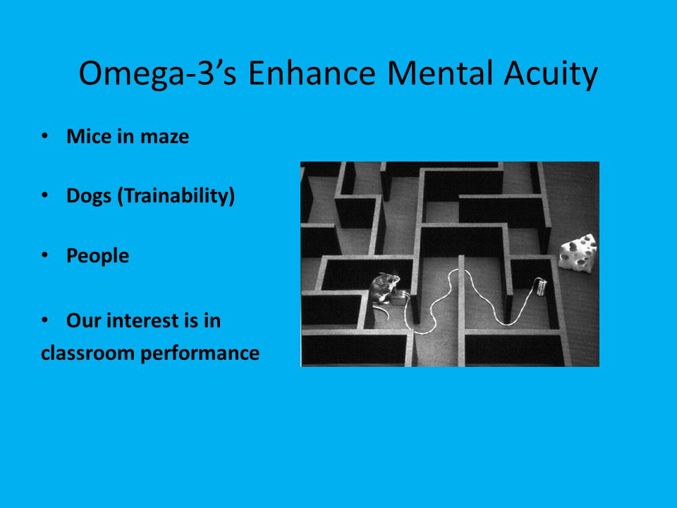 Omega-3's Enhance Mental Acuity